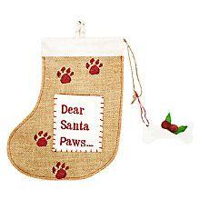"Buy Reg & Ruby ""Santa Paws"" Hessian Dog Stocking Online at johnlewis.com"