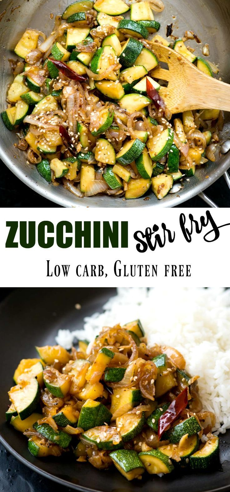 Zucchini Stir Fry - The flavours of kitchen