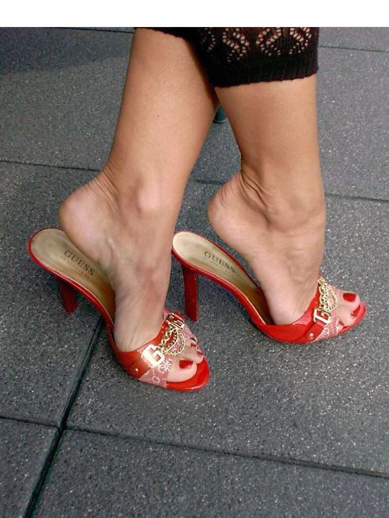 Ladies High Heel Mule Shoes