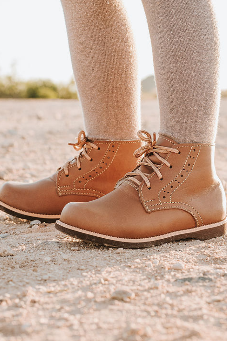 1e5884fc80e Leather artisan boots for kids from Adelisa & Co. These handmade,  heirloom shoes