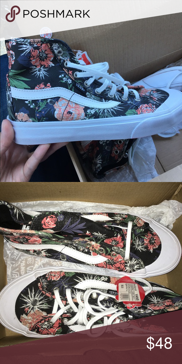 1ef72f0141 Selling this Women s hi top vans size 7 on Poshmark! My username is   jessica a896.  shopmycloset  poshmark  fashion  shopping  style  forsale   Vans  Shoes