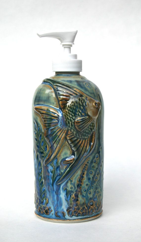 Angel Fish Lotion Soap Dispenser By Clayfantasea On Etsy