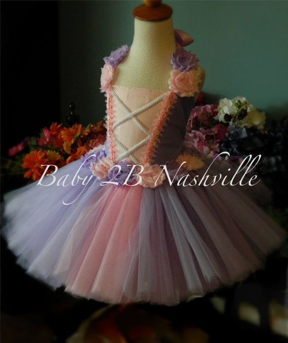 e478fd21d Girls Costume Rapunzel Style Costume Princess Costume Tutu Costume ...