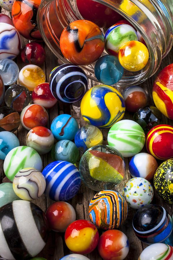 Colored Marbles For Games : Jar of marbles photograph fine art print