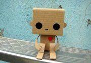 cute card bord robot