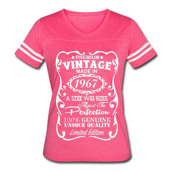 Made in 50th Birthday Present Gift New Retro Ladies T-shirt 1967