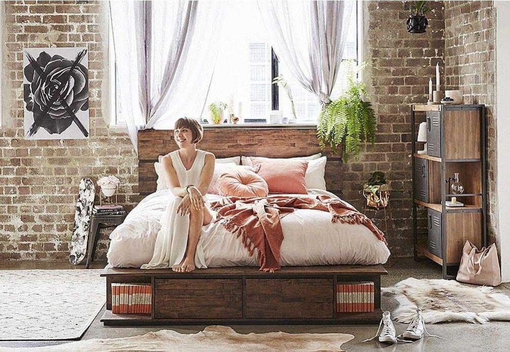 Trillian Queen Bed | Super Amart