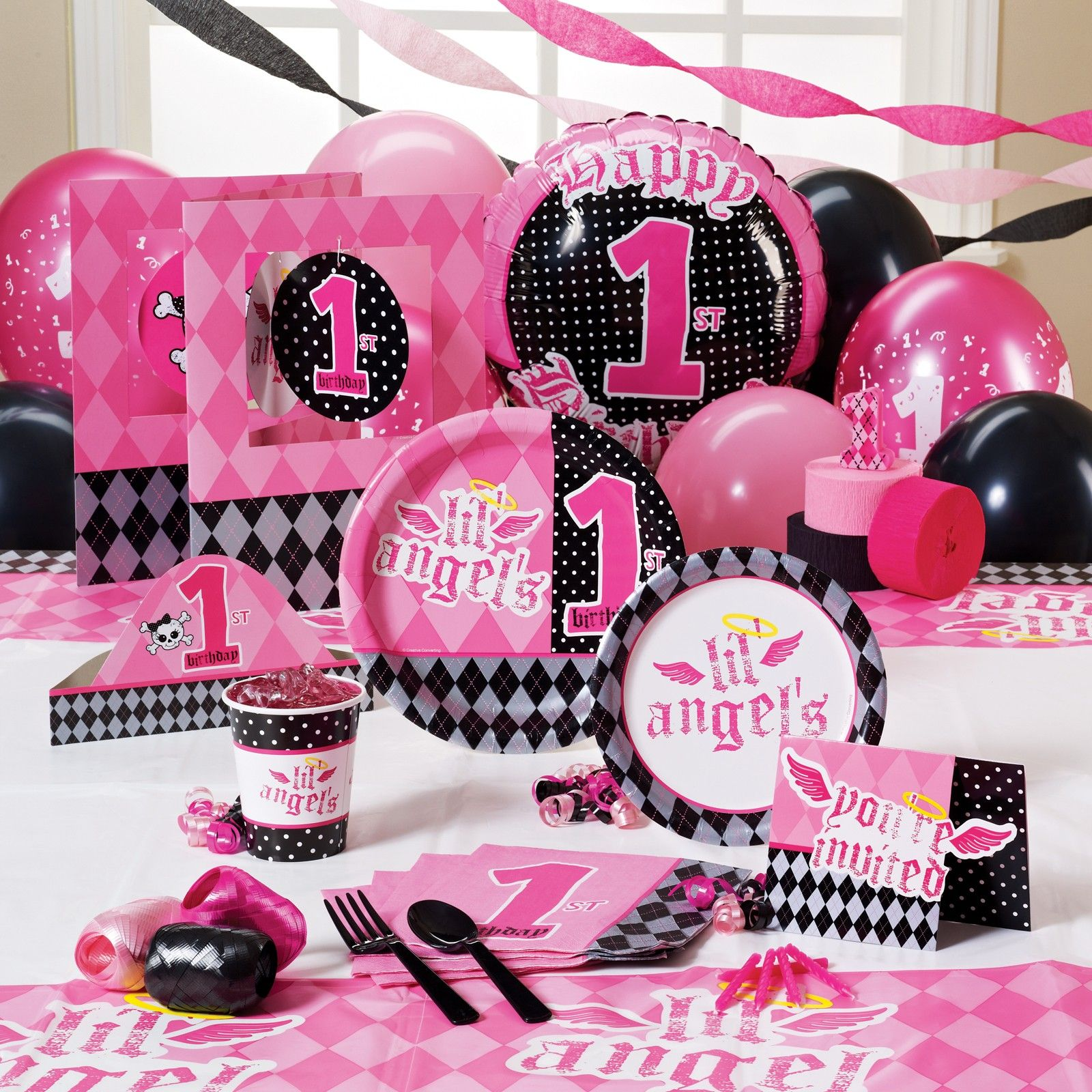 Lil Angel- 1st Birthday Party Theme! Really Cute!