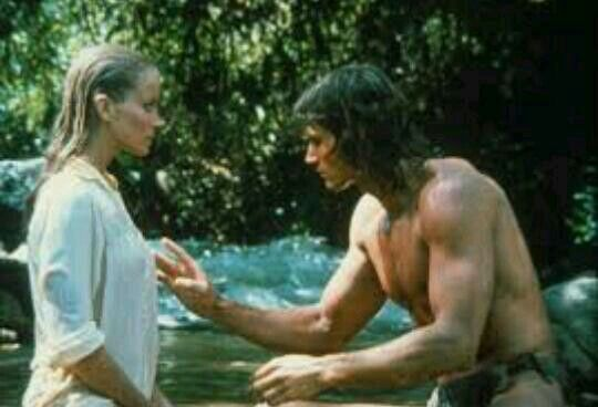 Bo Derek and Miles O'Keeffe in Tarzan The Ape Man 1981 \