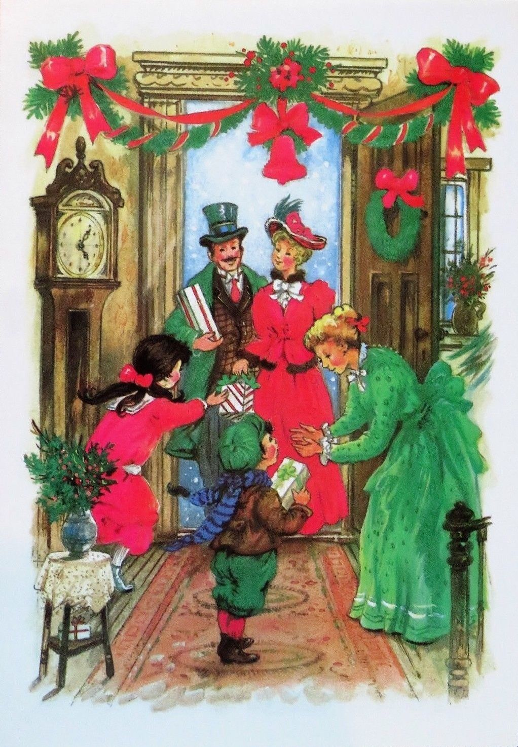A victorian christmas christmas cards pinterest vintage unused old fashioned family christmas vintage christmas greeting card kristyandbryce Image collections