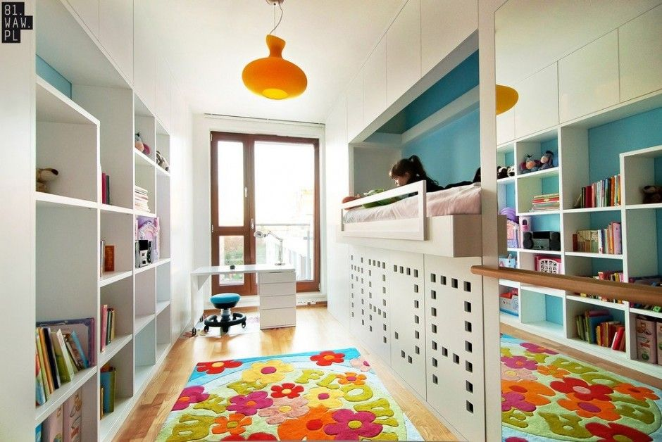 Maja's Room by 81.WAW.PL  A childroom room doesn't get much better than this.