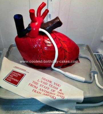 Phenomenal Coolest Human Heart Cake Cool Birthday Cakes Heart Cakes Heart Personalised Birthday Cards Petedlily Jamesorg