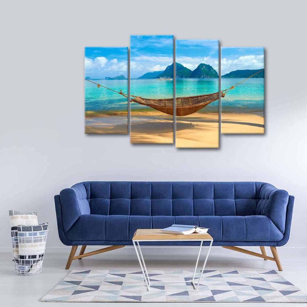 Beach Relaxation Multi Panel Canvas Wall Art Products In 2019