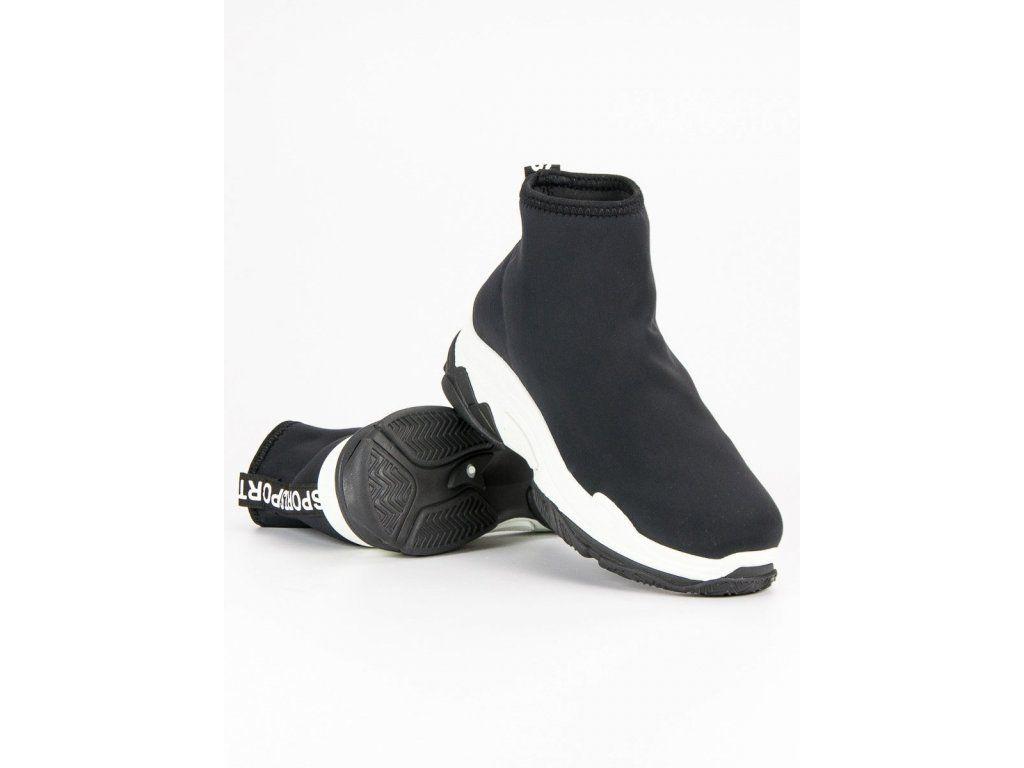 Módne športové topánky čierne  3644db60ca9
