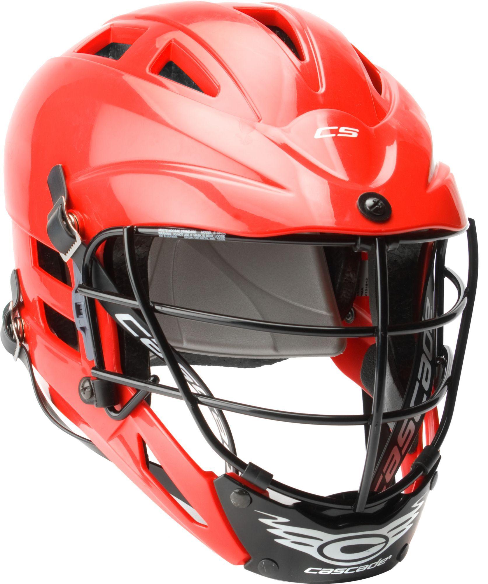 Cascade youth cs lacrosse helmet w black mask red