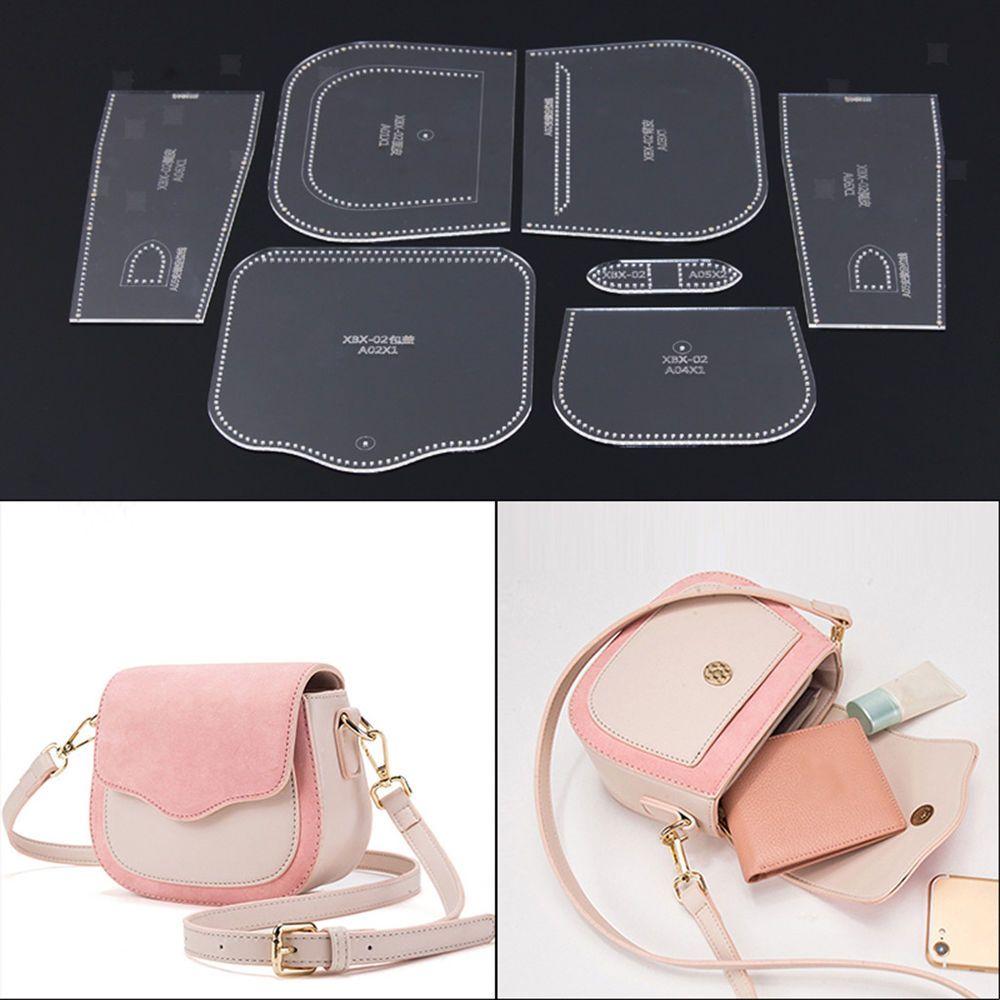 Leather Craft Clear Acrylic shoulder bag handbag Pattern Stencil Template XKB-75