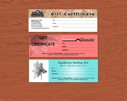 Healing Arts INKFISH ♥ gift vouchers Pinterest Gift - gift certificates samples