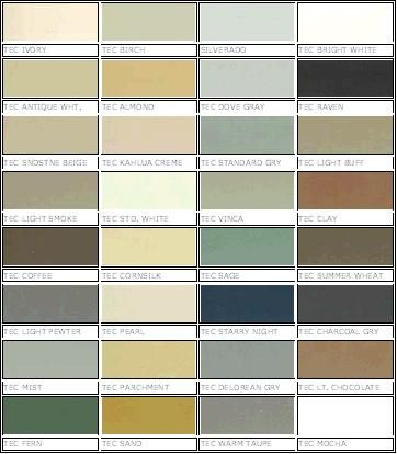 Compare grout colors - Color charts from multiple grout ...