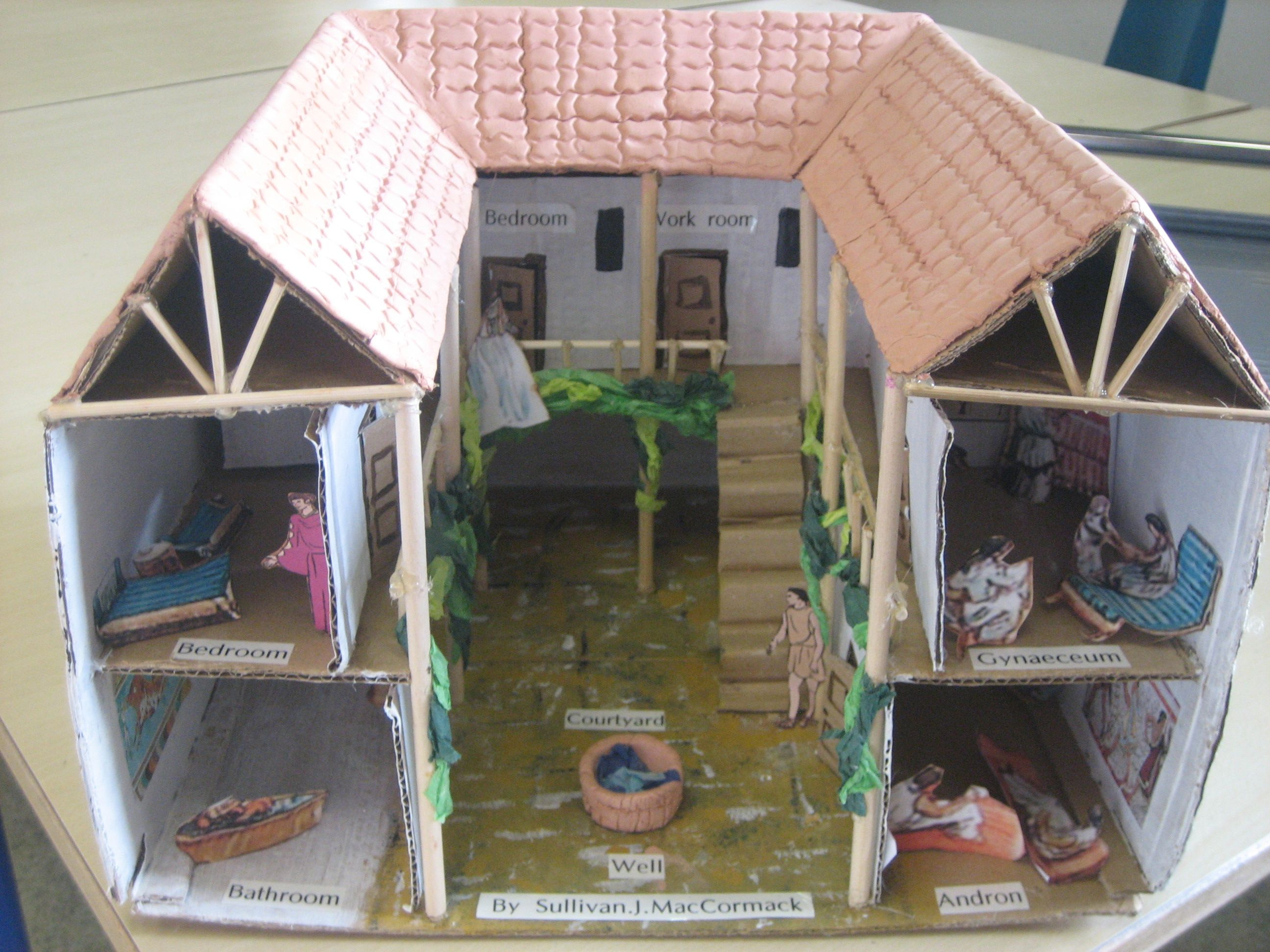 Ancient Greek Home Model Greek House Ancient Greece Projects Ancient Greek Architecture