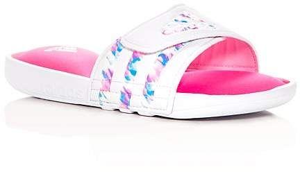 25973f67336ada adidas Girls  Adissage Comfort Pool Slide Sandals - Toddler