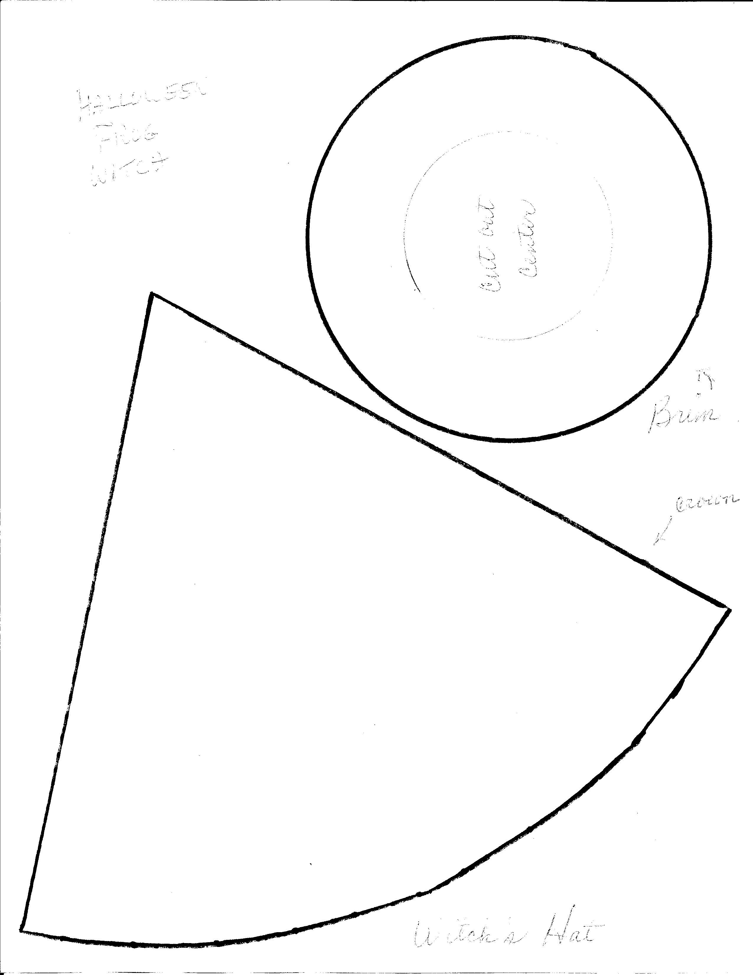 witch hat template | halloween | Pinterest | Hat template, Witches ...