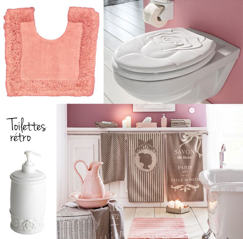 Idee deco toilettes originales retro vintage restroom pinterest deco to - Idee decoration toilette ...