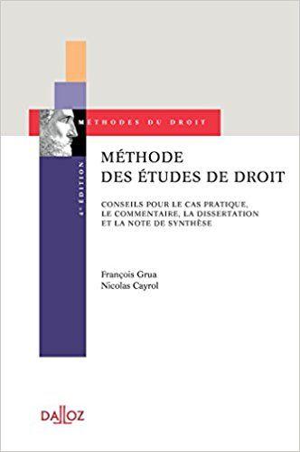 Dissertation droit administratif methode