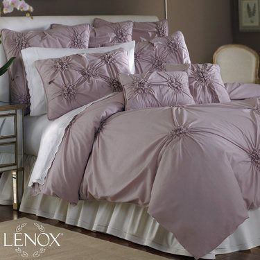 Lenox Blossom Bedding By Lenox Bedding, Comforters With Purple Sof Color  With Beauty Design