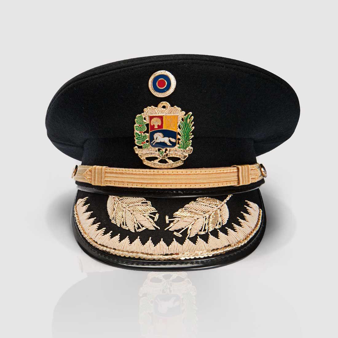 Gorra de plato de oficiales superiores del Ejército Nacional de Venezuela    Venezuelan National Army senior officers  visor cap cc68e3ecd57