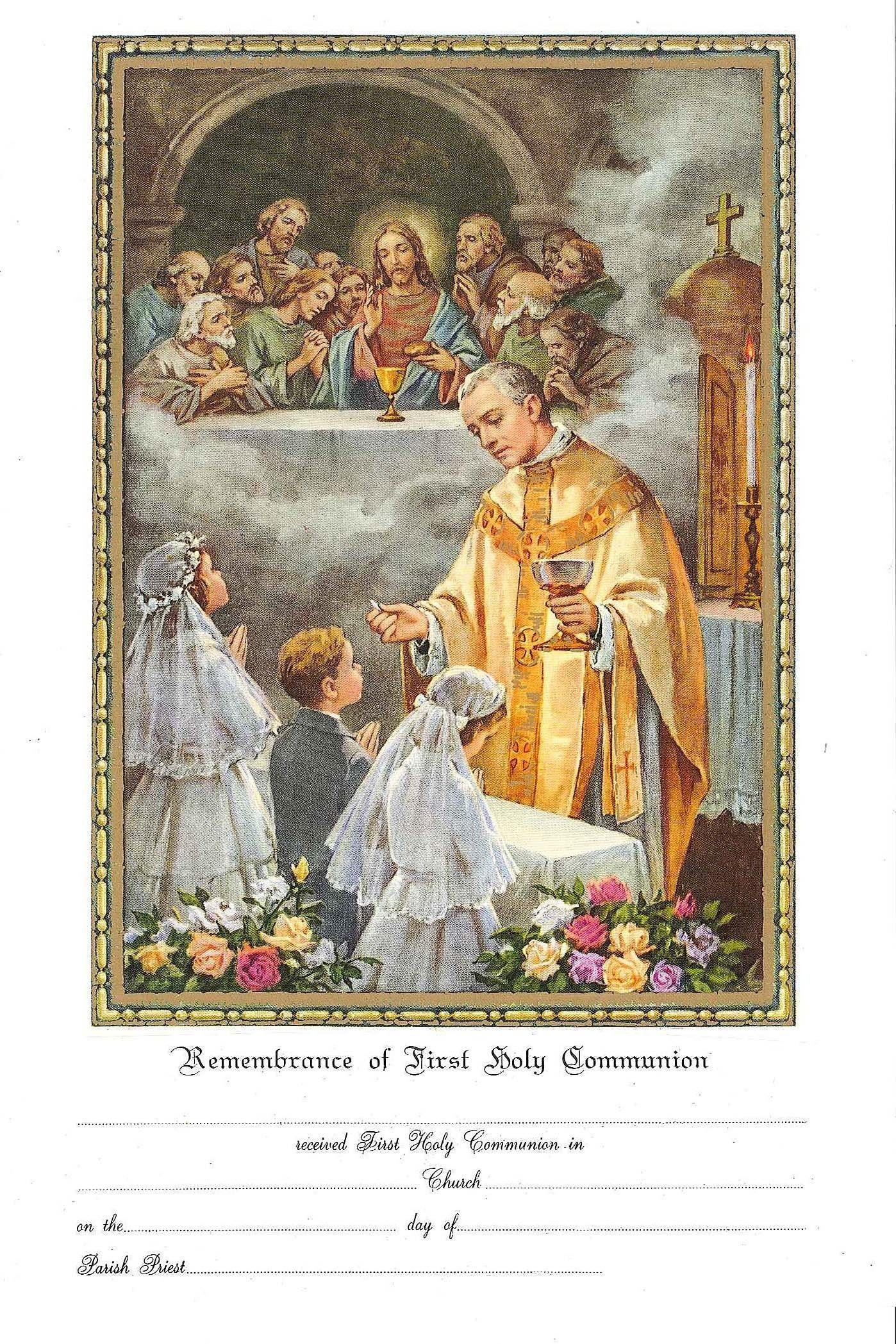 Communion Certificate No 1