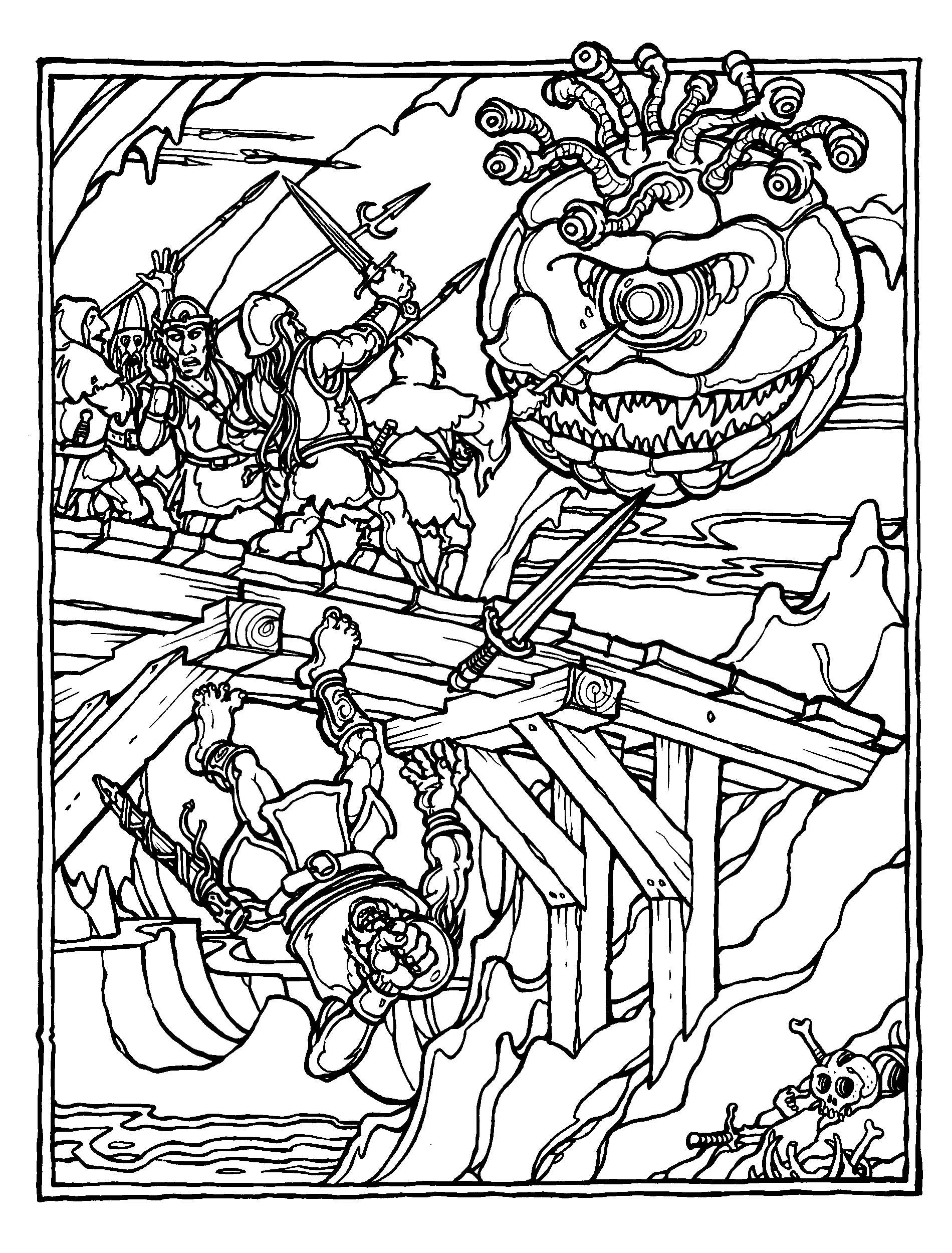 06cavern Jpg 1 900 2 500 Pixels Dungeons And Dragons Coloring Pages
