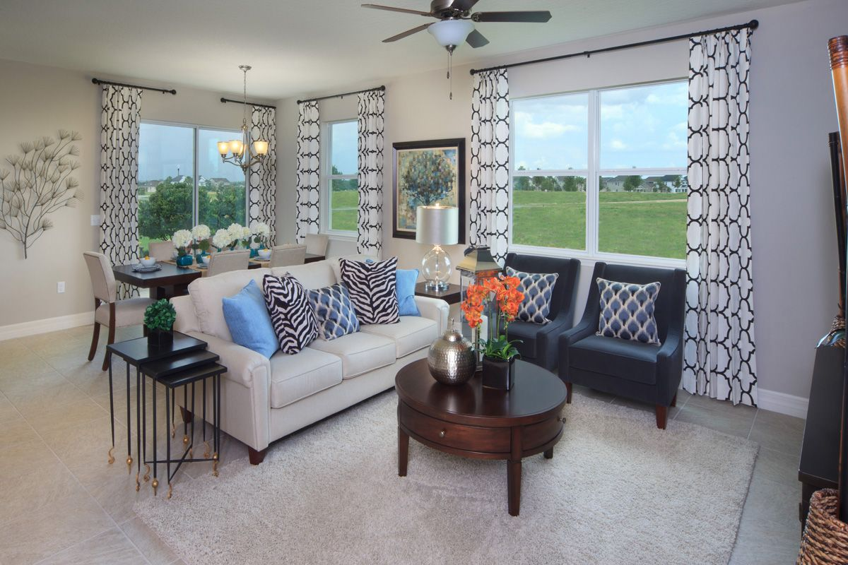 this great room from our summerlake 1796 model shows off the