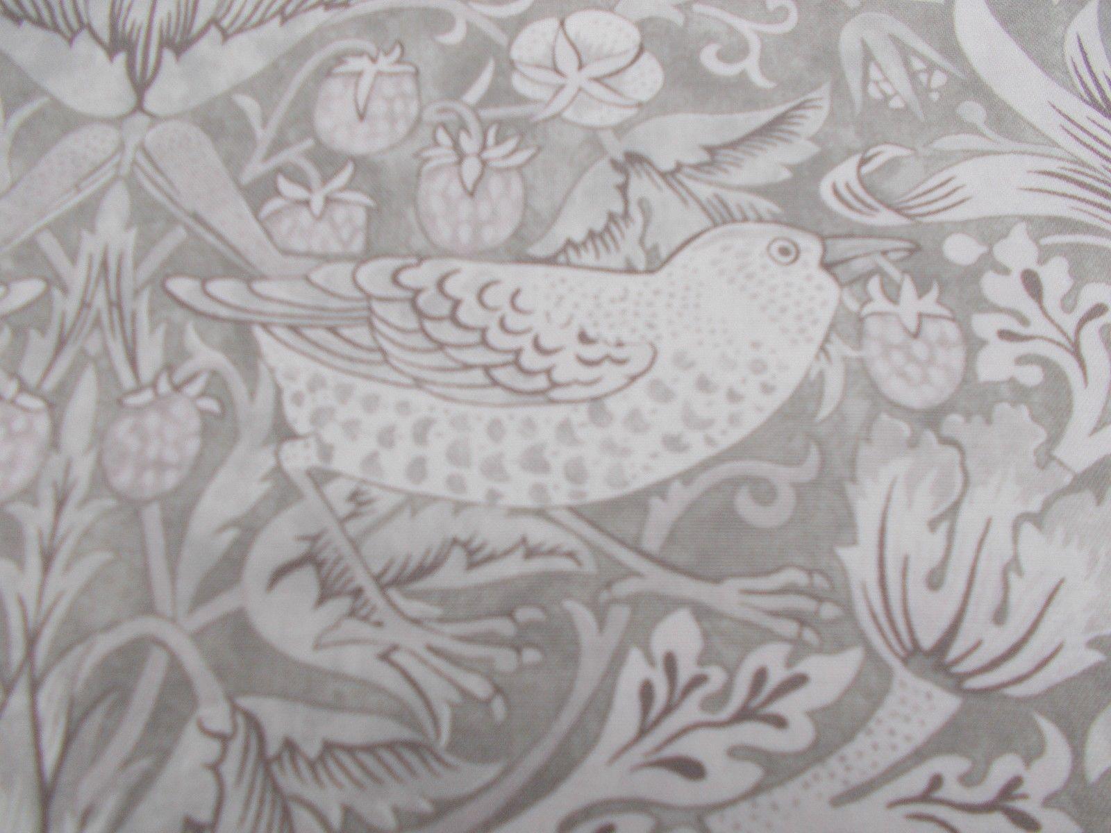 William Morris Curtain Fabric 'Strawberry Thief' 3.5 METRES (350cm) Neutral GBP 108.99