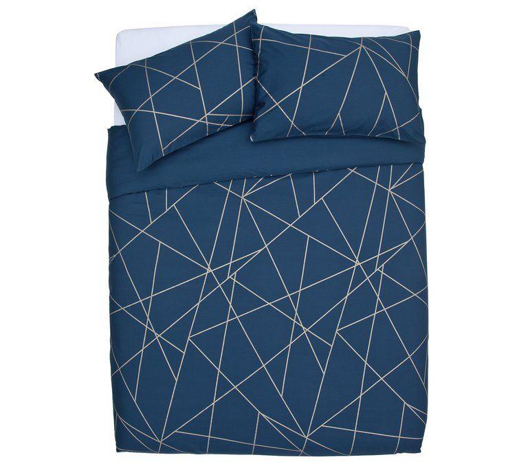 Buy Argos Home Fineline Geometric Bedding Set Kingsize Duvet Cover Sets Argos Geometric Bedding Argos Home Bedding Set