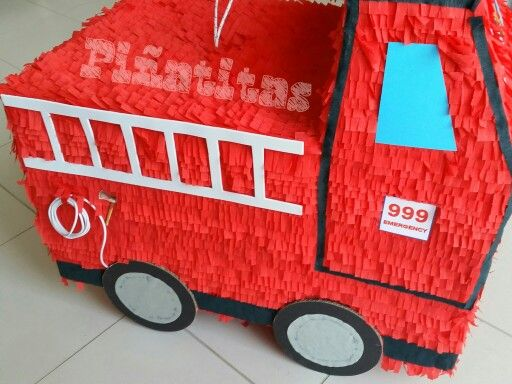 Small Pinata Fire Truck Birthday Party Supplies