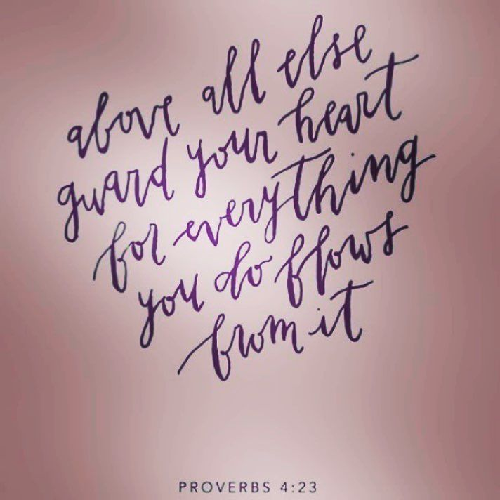 Acima de tudo guarde o seu coração pois dele depende toda a sua vida. Provérbios 4:23  #love#heart#faith#life#bible#jesus#god#holyspirit#guardyourheart#a#hillsongams# by mariapereshorta