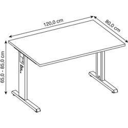 Photo of Hammerbacher Os 12 height-adjustable desk white rectangular Hammerbacher