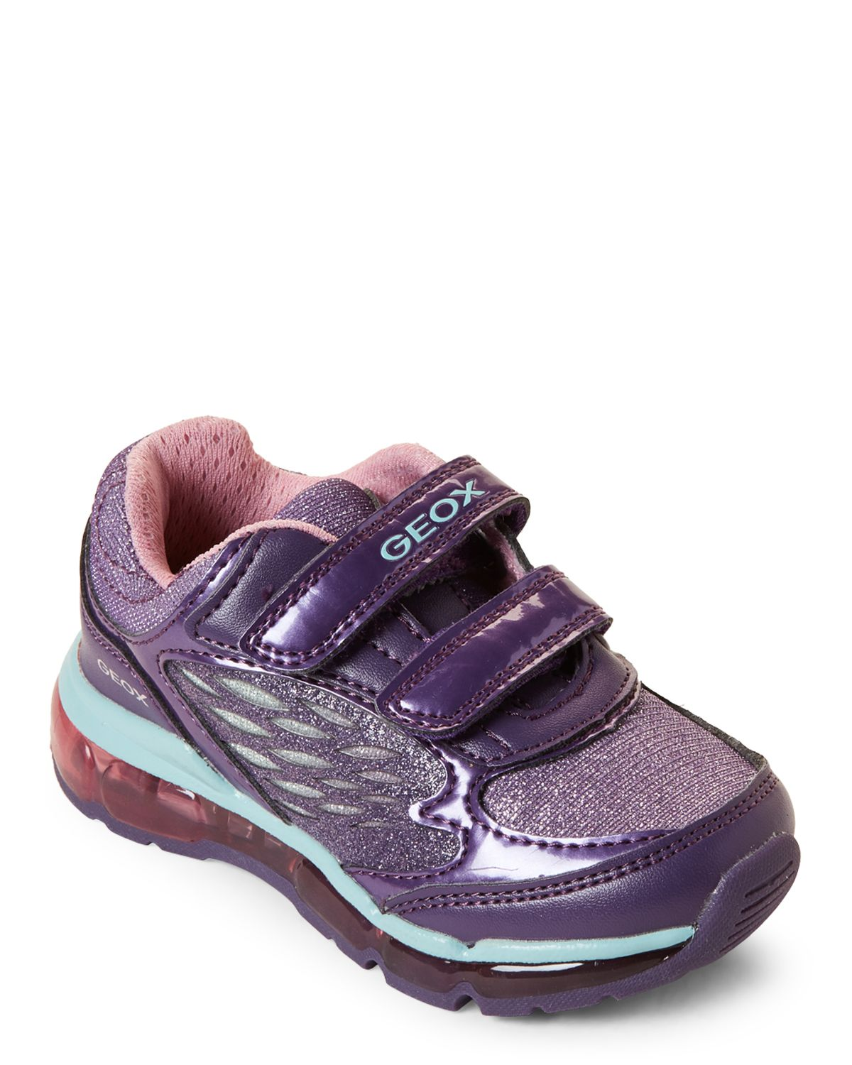 6eb71c87959 Geox Respira (Toddler Girls) Violet & Water Sea Android Light-Up Sneakers
