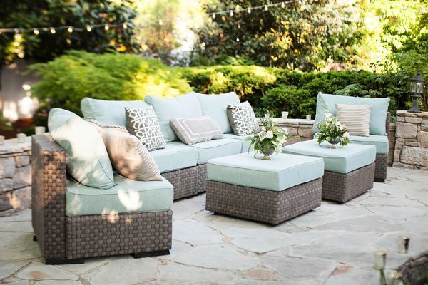 The New Sutton Lounge Furniture Looks Perfect By Our Pond. Organic Luxe Garden  Wedding Near