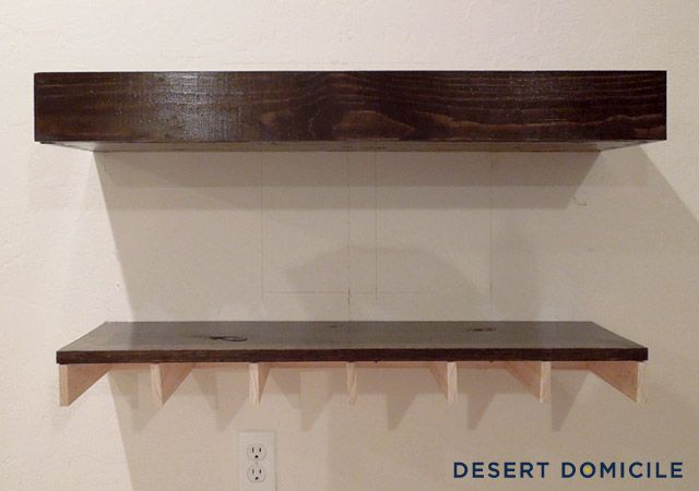 DIY Chunky Wooden Floating Shelves