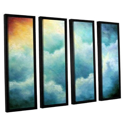 ArtWall Evidence Of Angels by Marina Petro 4 Piece Framed Painting Print on Wrapped Canvas Set Size:
