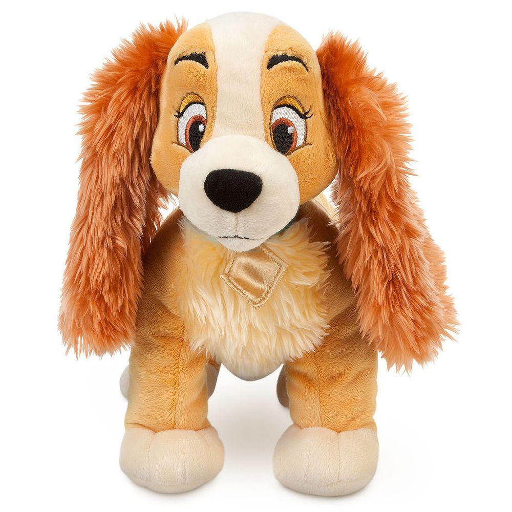 "Disney Authentic Lady /& the Tramp BIG Plush Toy Doll 14/"" Cute Dog Stuffed Animal"