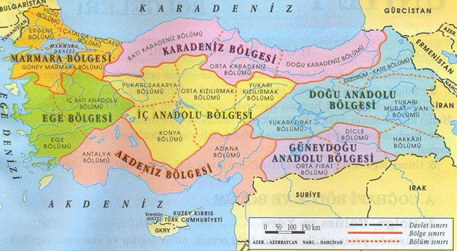 Turkiye Nin Cografi Bolgeleri Turkiye Deki Cografi Bolgeler Cografya Turkiye Bilgi