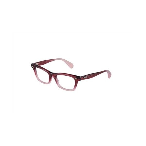 Ray-Ban Eyeglasses RX5281 5129 ($178) ❤ liked on Polyvore featuring accessories, eyewear, eyeglasses, striped glasses, lens glasses, ray ban glasses, ray ban eyewear and ray-ban