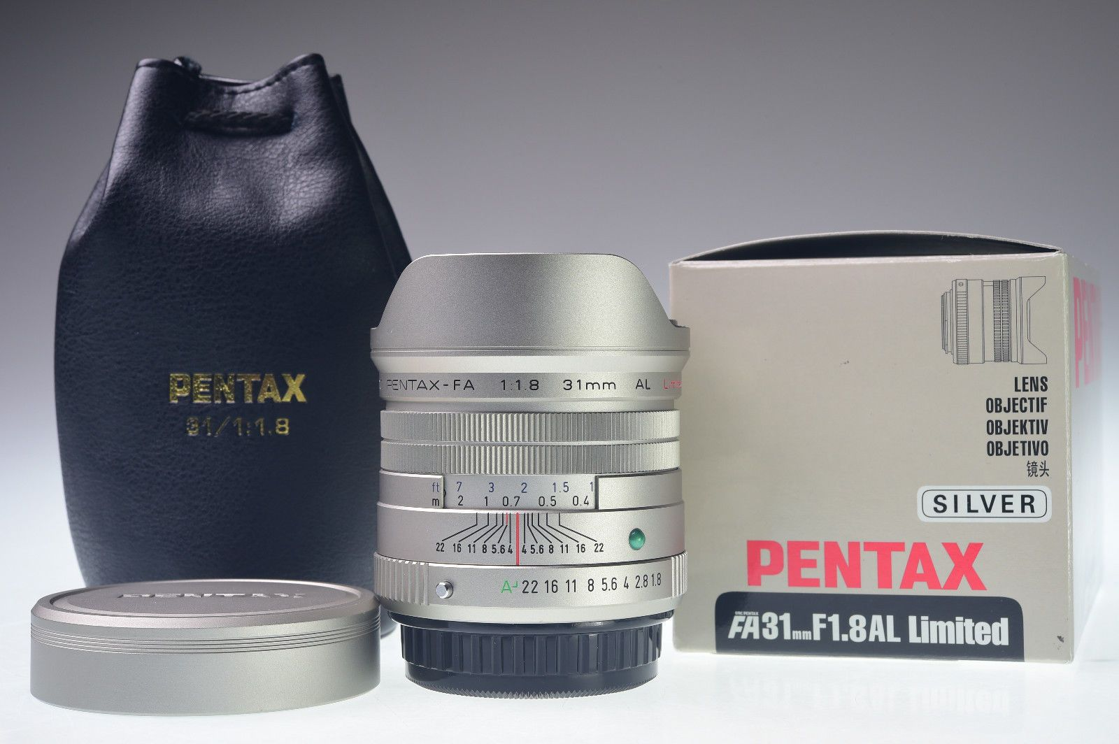 Mint Smc Pentax Fa 31mm F 1 8 Al Limited Silver Silver Coffee Mint