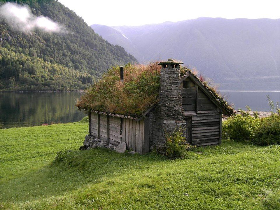 grass roof house norway cabin house and spaces