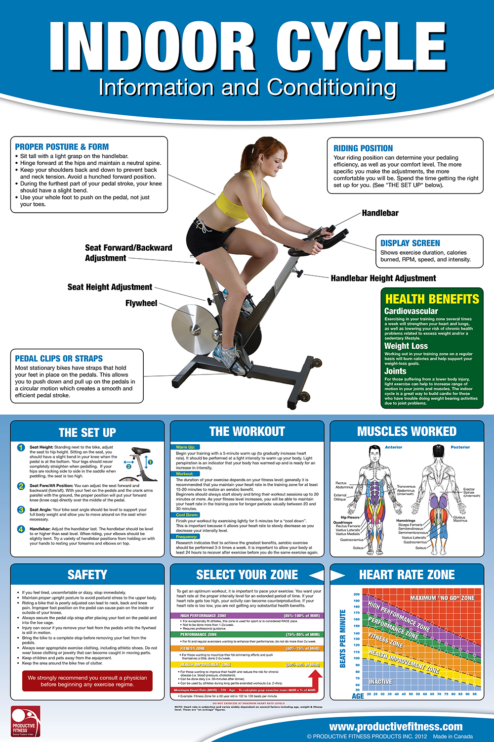 Indoor cycle posterchart 2495 whether in a group class indoor cycle posterchart 2495 whether in a group class setting or for a nvjuhfo Image collections