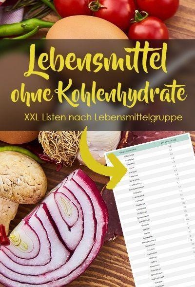 Lebensmittel ohne Kohlenhydrate - Große und sortierte Liste! #naturalcures