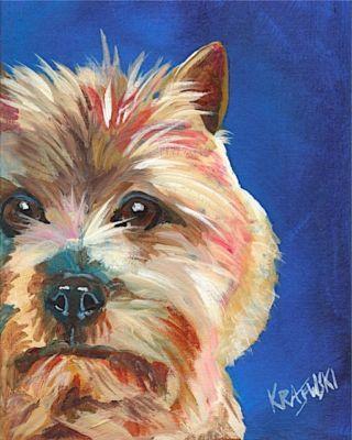 Scottish Terrier Dog 11x14 signed art PRINT RJK painting
