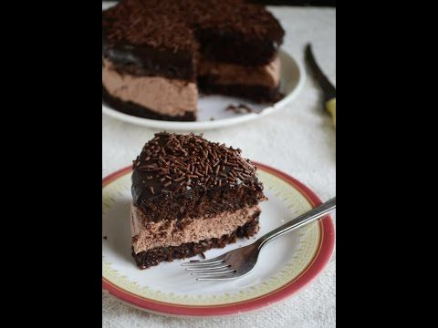 Eggless Chocolate Mousse Sandwich Cake - Video Recipe – Gayathri's Cook Spot